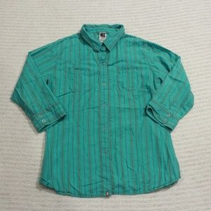 The North Face Women's Sky Blue Button Down XL/TG